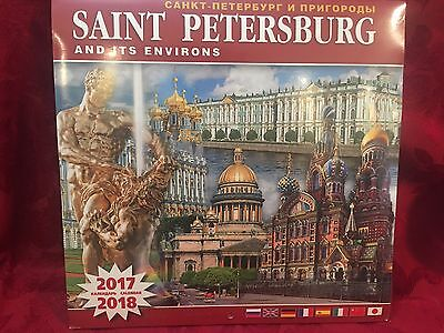 Saint Petersburg Russia Wall Calendar 2017 New Sealed 11 5X11 5 Inches