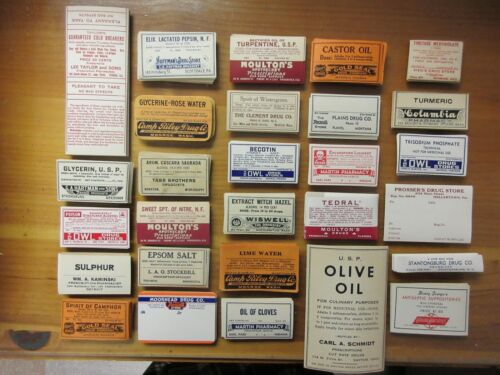 700+OLD PHARMACY-APOTHECARY-MEDICINE BOTTLE LABELS=EPHEMERA=NICE SELECTION