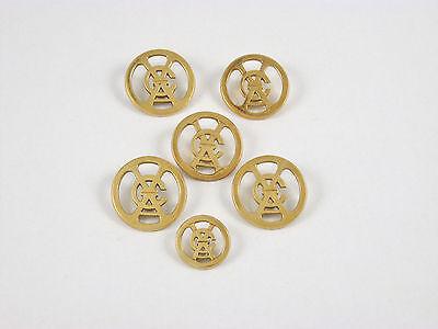 Vintage Van Cleef & Arpels VCA Logo 18k Gold Blazer Jacket Buttons