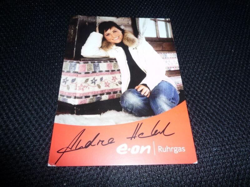 ANDREA HENKEL  signed Autogramm  10x15 cm 2x OLYMPIA GOLD 1x Silber BIATHLON