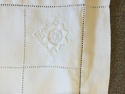 BEAUTIFUL FRENCH  ANTIQUE SQUARE COTTON PILLOW CASES WITH CROCHET DETAIL