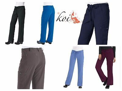 - New koi 715 Alicia Pant Sapphire Four-Way Stretch Scrubs Cargo Pant Petite only!