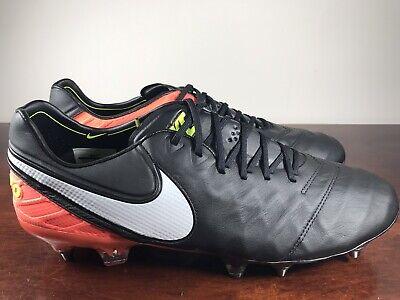 0177b5b9c Men s Nike Tiempo Legend VI SG Pro Soccer Cleat Black-Orange 819680-019  Size 7.5