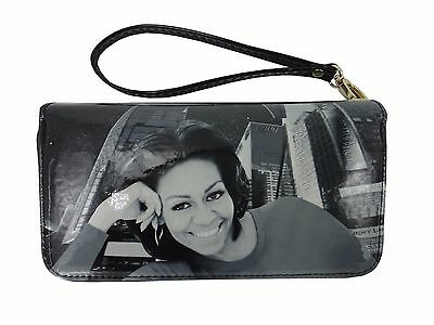Michelle And Barack Obama Clutch Wallet Wristlet Bag Purse New Style
