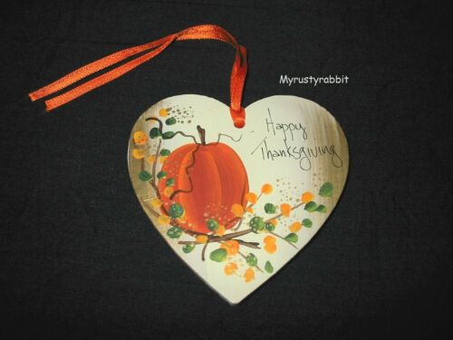 Longaberger Happy Thanksgiving Tie-On - Handpainted Wood by Pat Zink