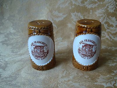 Vintage Porcelain Salt & Pepper Shaker Souvenir of San Francisco Made in Japan