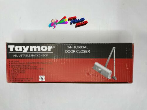 Taymor Commercial Door Closer 14-HC603AL, Grade 3, Size 3, Adjustable Backcheck