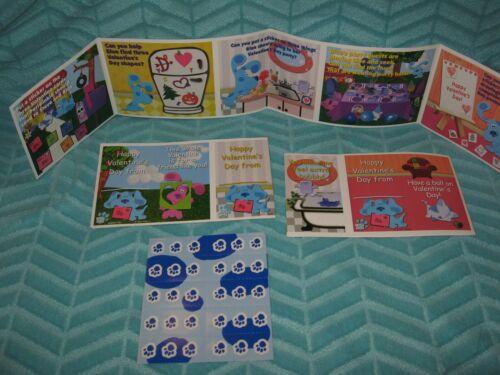 Vintage Blues Clues Valentine Cards School Class Stickers