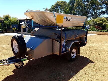 Off Road Camper Trailer and Boat