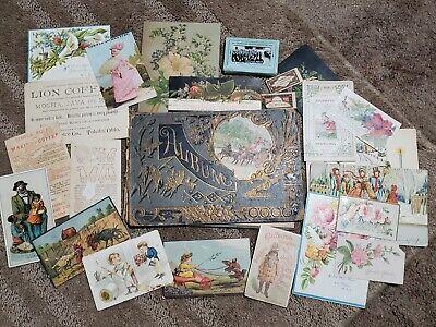 Lot of 23 Vintage Postcards Advertising Album Slogan History Naval Pictures
