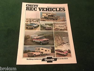 MINT CHEVROLET 1974 CHEVY RECREATIONAL VEHICLES SALES BROCHURE NEW (BOX 397)