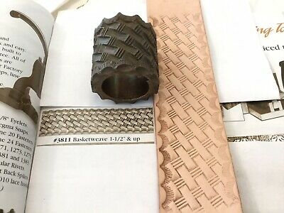 "Embossing Roll # 3811 Basket weave 1  1/2"" Tandy Leather Factory"