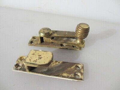 Vintage Brass Sash Window Latch Lock Catch Fastener Old Beehive Mid Century