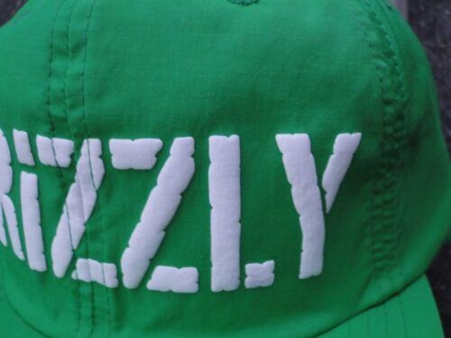 b9011a15a34 Diamond Grizzly Griptape Stamp Logo Nylon Green Mens Skate Co. Snapback Hat