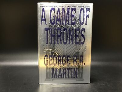 Signed A Game Of Thrones George R R Martin First Edition Rare HC Bantam 1996