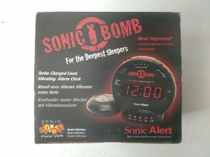 Sonic Alert Bomb SA-SBB500SS Dual Alarm Clock With Super Bed Shaker