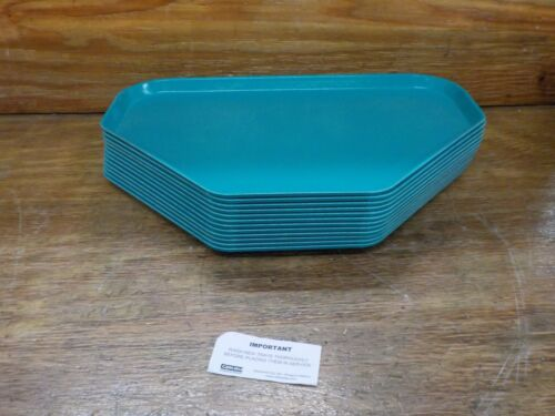 Carlisle 2214FG067 Fiberglass Glasteel Solid Trapezoid Tray, Turquoise, 12 Pack