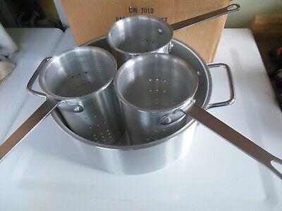Vintage Lancaster Colony 4 Pc Aluminum Pasta Cooker Set 12 Qt Cw 7010 Commercial