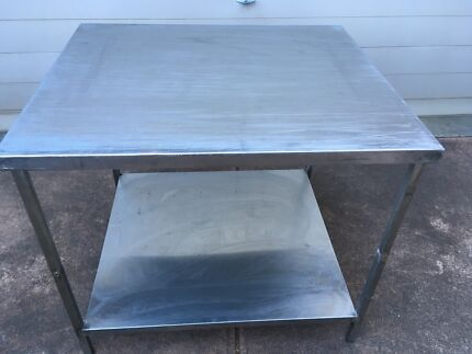 Heavy duty stainless steel bench.