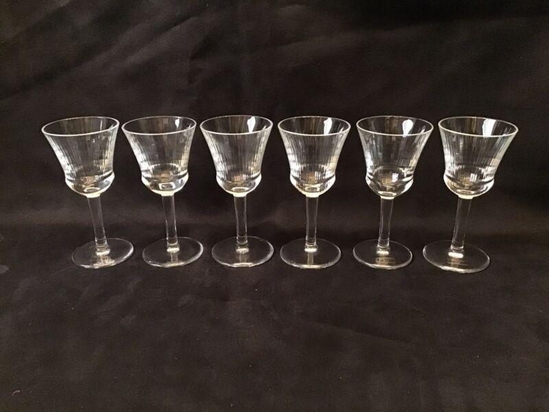6 Saint Louis Wine/Sherry Glasses Excellent Condition