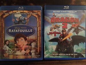 Ratatouille; How to train your dragon 2