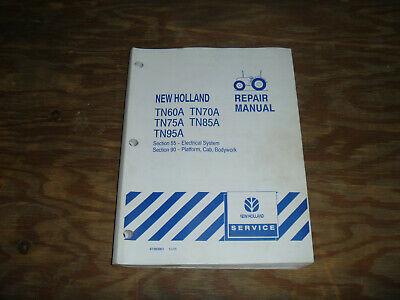 New Holland Tn60a Tn70a Tn75a Tractor Platform Electrical Wiring Diagrams Manual