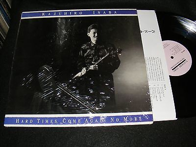 Autographed JAPAN Bluegrass LP KAZUHIRO INABA Hard Times Come Again No More