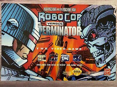 Robocop Vs The Terminator Sega Genesis Super Nintendo SNES Promo Ad Print Poster