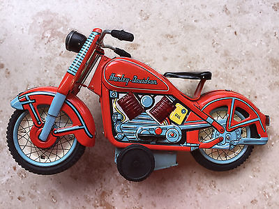 Selten! TN Toy Nomura Neuauflage TIN Blech Harley Davidson Cycle Motorrad MINT