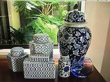 LOTS OF BLUE AND WHITE GINGER JARS AT GARAGE SALE IN WAYVILLE Wayville Unley Area Preview