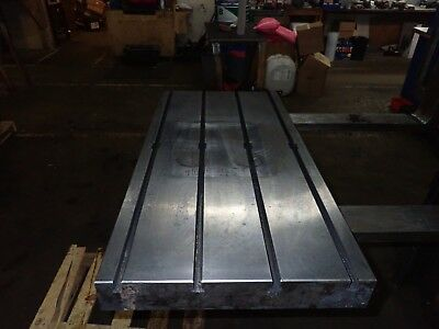 39.5 X 19.75 X 3.25 Steel Weld T-slot Table Cast Iron Layout 4 Slot Jig