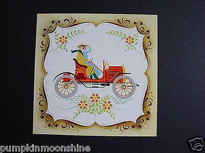 Vintage Unused Congratulations Greeting Card Colonial Americana Tile Series
