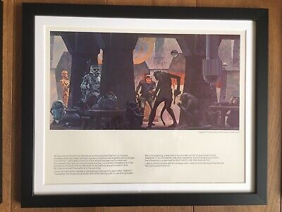Star Wars Ralph McQuarrie Framed Vintage 1977 Portfolio Print Hans Solo / Chewy