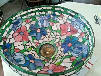 Very Large Tiffany Style Stained Glass Lamp Shade