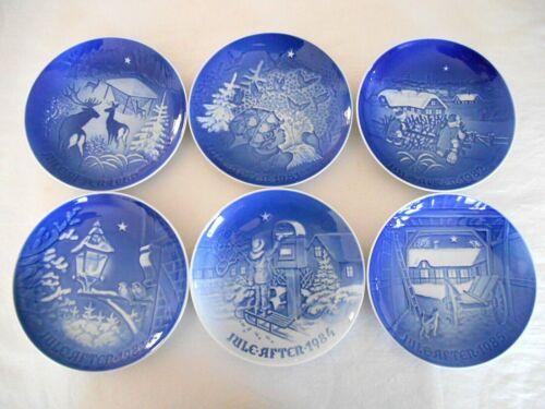 6 BING & GRONDAHL ANNUAL CHRISTMAS PLATES 1980, 1981, 1982, 1983, 1984 & 1985