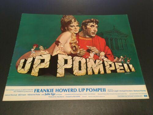 UP POMPEII 1971 Original Film Publicity Campaign Book
