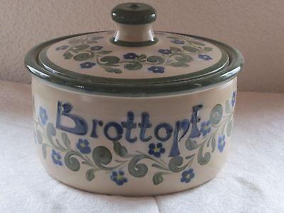 Brottopf Serie Flora grün-blau *echte Salzglasur* Nik.Schmitt Steinzeug-Soonwald