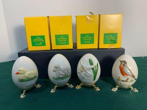 Goebel - Set of Four (4) Easter Eggs 1979 - 1986