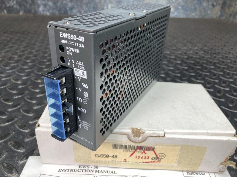 Nemic Lambda EWS50-48 Switching Power Supply -New