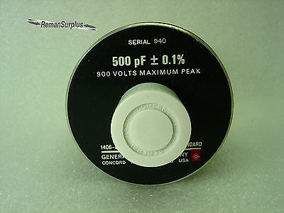 Used General Radio 1406-b Coaxial Capacitance Standard 500pf-0.1 1406b