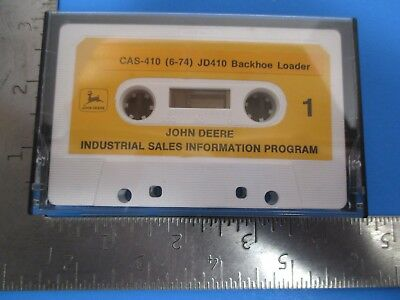 John Deere Industrial Sales Program Cassette Jd410 Backhoe Loader Cas-410 6-74
