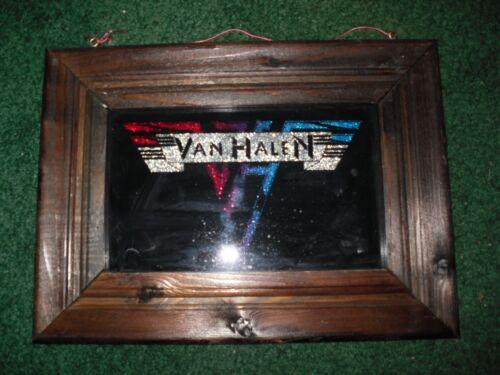 "Van Halen Fair Mirror Framed 8.5"" x 11.5"" Glitter Awesome Mirror"