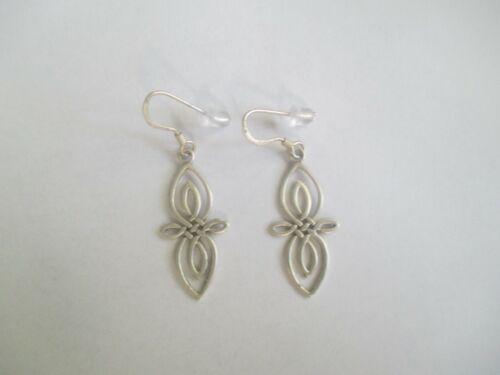 Celtic Earrings..STERLING SILVER ..Dangle..open look..light..NEW