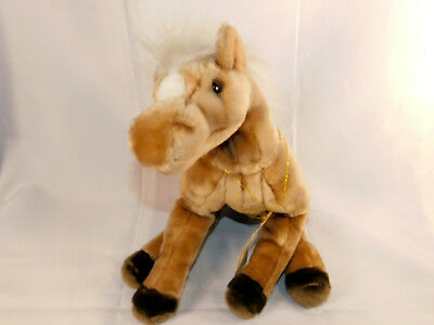 Manhattan Toy Horse Brown White Plush Soft Stuffed Toy 1997 Clover Pony  ()