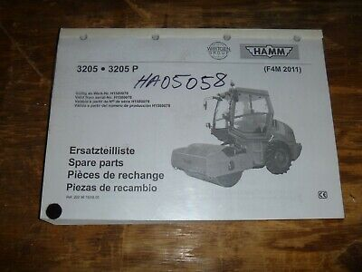 Hamm 3205 3205p Vibratory Smooth Drum Roller Compactor Part Catalog Manual