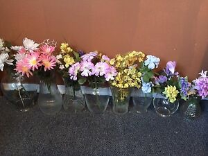 Vases and Dried Flowers
