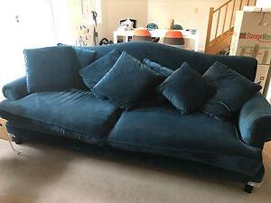 Near new plush velvet 3.5 seater lounge Naremburn Willoughby Area Preview