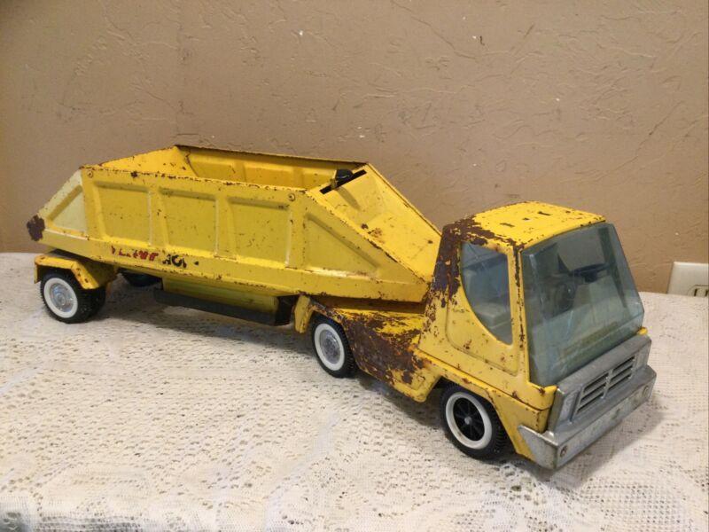Vintage 1960's Nylint Pressed Steel Hopper Bottom Dumper Semi Truck-Restore