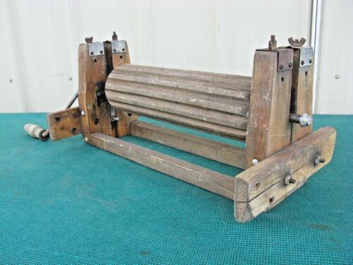 Antique Clothes Wringer Sept 30th 1930 Rustic Wood