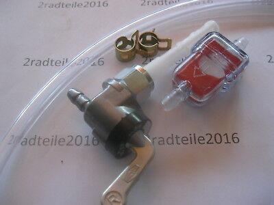 Zündapp , Set- Benzinhahn Karcoma M12x1mm + Filter + Schlauch und Klemmen